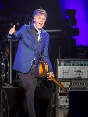 Sir Paul McCartney performs at Wells Fargo Arena Monday,