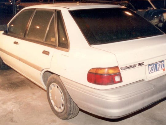 Klocek's 1992 Ford Escort was found abandoned and partially