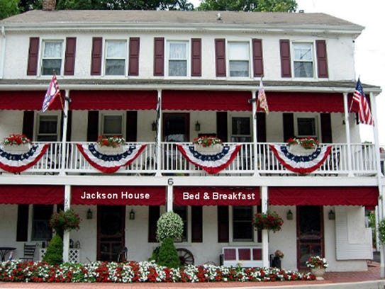 Flowers bloom at the Jackson House Bed and Breakfast