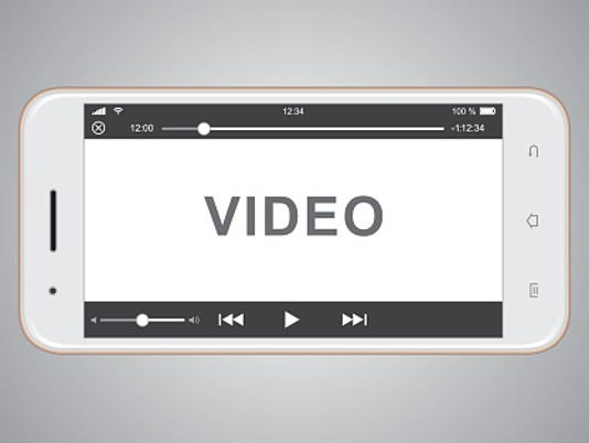 Smartphone video Stock Image