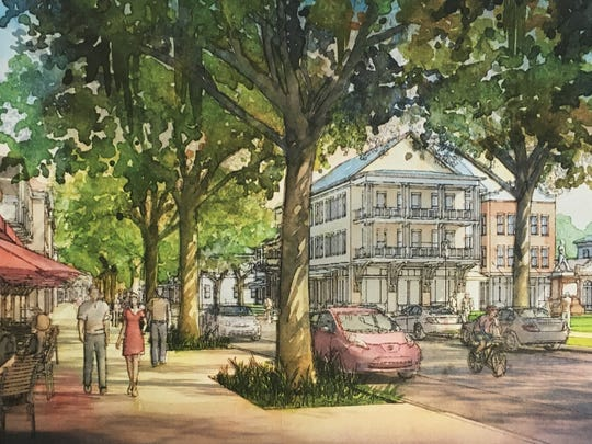 This drawing shows the proposed Pineland Prairie development.