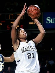Chantelle Anderson is Vanderbilt's all-time leading scorer. Her jersey No. 21 was retired in 2011.