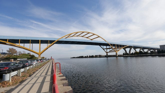 The Hoan Bridge in Milwaukee.