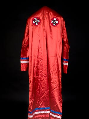 Ku Klux Klan robe. Dubois County, circa 1979; Collection of the Indiana State Museum and Historic Sites