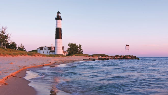 One Michigan lighthouse open to tours is the Big Sable Point Lighthouse.