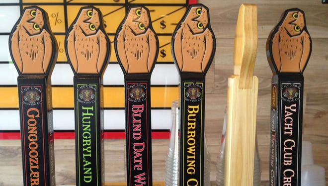 There are five beers currently on tap, with plans to add more over the next few weeks at Cape Coral Brewing Company.