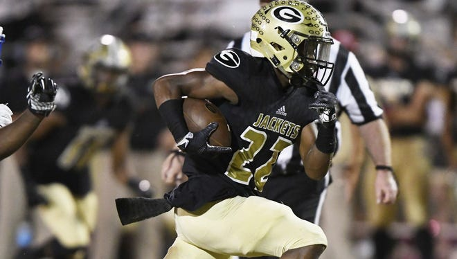 Greer senior running back Dre Williams has rushed for 1,230 yards and 12 touchdowns this season. Williams and the Yellow Jackets will host Daniel in a Class AAAA first-round playoff game Friday night.