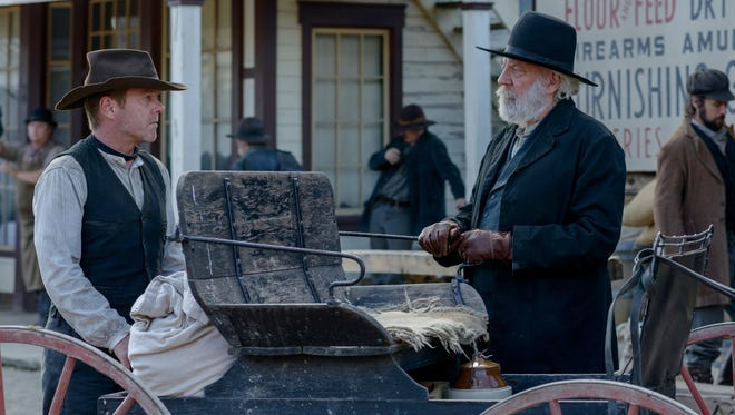 """Kiefer and Donald Sutherland are kin off screen and on in the Western """"Forsaken."""""""