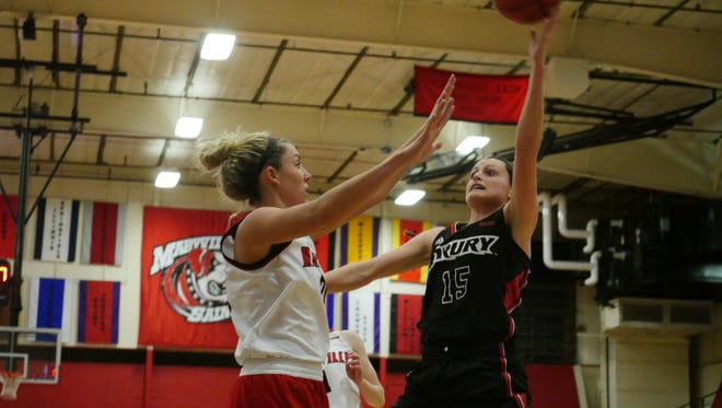 Guard Heather Harman was one of several Lady Panthers scoring in double digits in Thursday's game against Maryville.