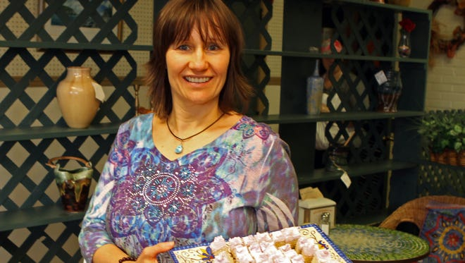 Silke Tyler greeted her customers with birthday cake Tuesday as her restaurant, Silke's Old World Breads, Bakery & Cafe, celebrated its 10th anniversary.