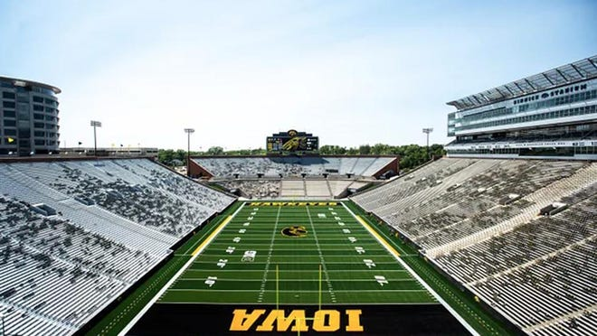 Iowa is scheduled to host five football games at Kinnick Stadium this fall, beginning Sept. 5 against Maryland, under a new Big Ten Conference slate announced Wednesday.