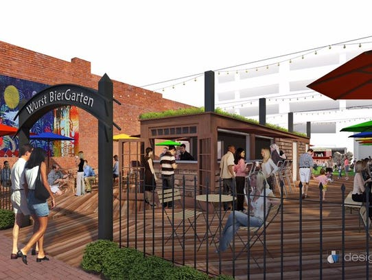 The Wurst Biergarten is expected to open in January
