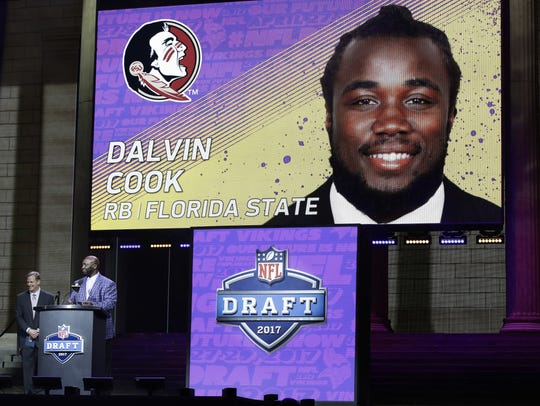 Former Florida State running back Dalvin Cook was selected