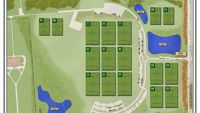Twenty-two athletic fields are ready for play at the Voice of America Park in West Chester Township.