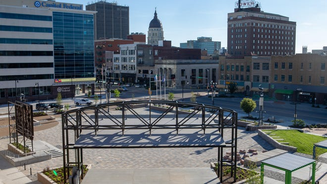 Evergy Plaza, pictured here, will host a First Day of Fall Celebration from 10 a.m. to 2 p.m. Tuesday, Sept. 22. The event will feature live music, food for sale and a food drive for Harvesters Community Food Network.