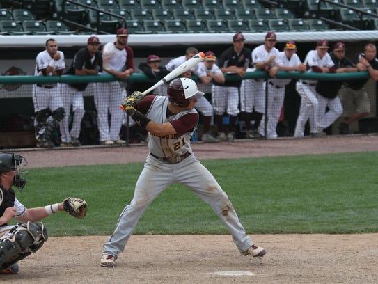 Salisbury University shortstop Pete Grasso waits on