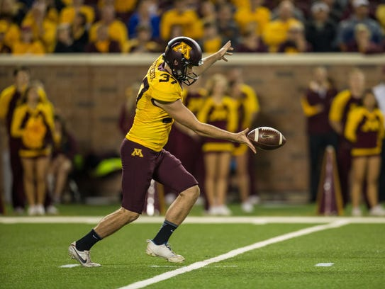 University of Minnesota redshirt senior Peter Mortell
