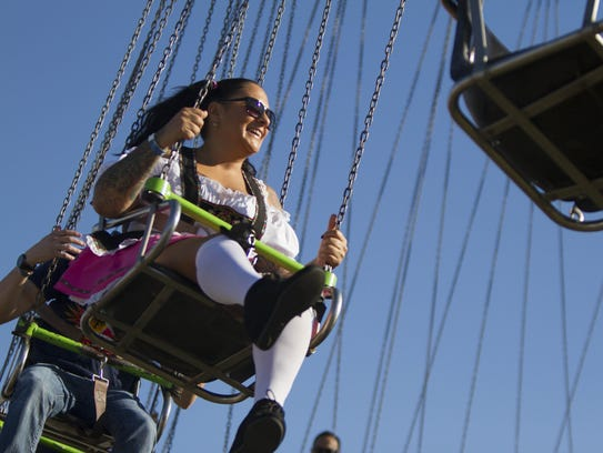 A carnival is part of the Tempe Town Lake Oktoberfest,