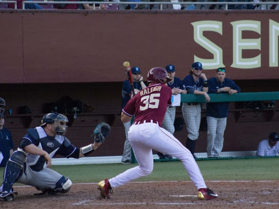 Freshman Cal Raleigh finished with four hits and five