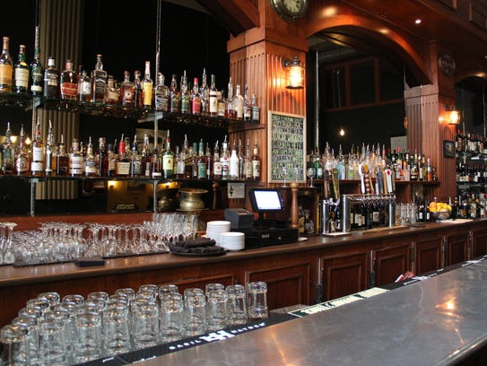 The bar at Bari includes several spirits and Rafaei's extensive wine list.