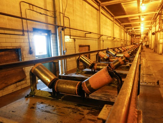 The conveyor belt that moved coal from trains and into