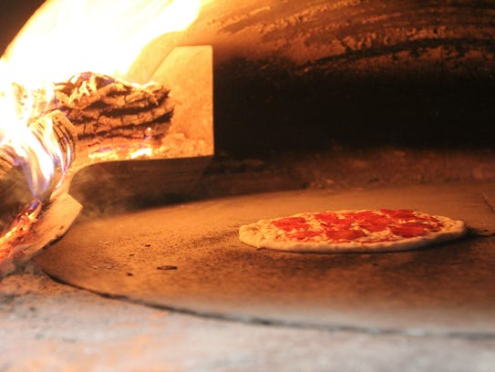 The wood-fired oven at Rick's Pizza and Pub in Pendleton.