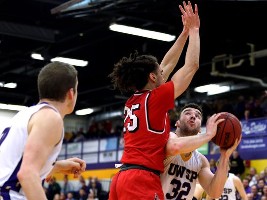 UW-Stevens Point player Canon O'Heron is coming off a career-high 30 points in an 82-44  win over Bethany Lutheran in the second round of the NCAA Division III tournament last weekend in Collegeville, Minn.