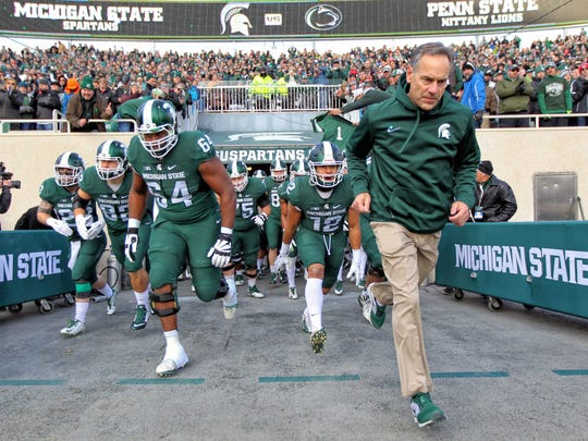 Mike Carter/USA TODAY Sports Mark Dantonio has coached MSU to three Big Ten titles and seven wins over Michigan in 10 seasons. Still, after a disastrous 2016 season and offseason, he finds his tenure in question. Mark Dantonio has coached MSU to three Big Ten titles and seven wins over Michigan in 10 seasons. Still, after a disastrous 2016 season and offseason, he finds his tenure in question.