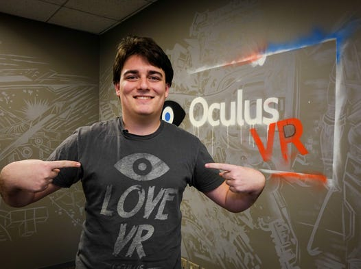 Palmer Luckey, the 21-year-old founder of the Oculus VR, at company headquarters in Irvine, Calif. Facebook announced the acquisition of Oculus for $2 billion on Tuesday.