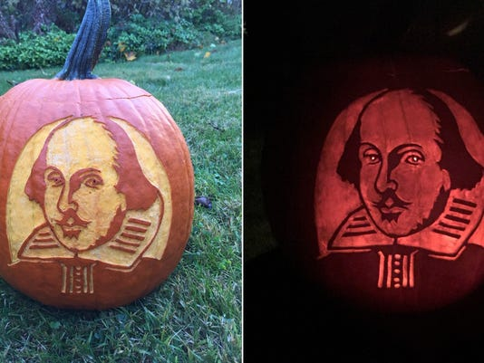 William Shakespeare pumpkin