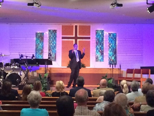 Ben Carson shared his testimony during two church services