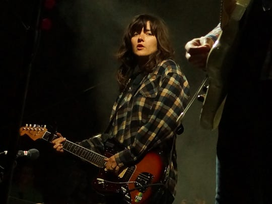 Courtney Barnett performing Sunday at the Desert Daze Music and Art Festival at the Institute of Mentalphysics in Joshua Tree.