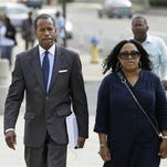 Former Democratic state Sen. Malcolm Smith arrives to federal court in White Plains on Wednesday.