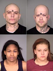 (Clockwise from top left) Quadruple homicide suspects
