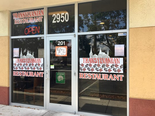 The Transylvanian Restaurant on Winkler Avenue in Fort Myers offers Romanian, American and Spanish cuisine.