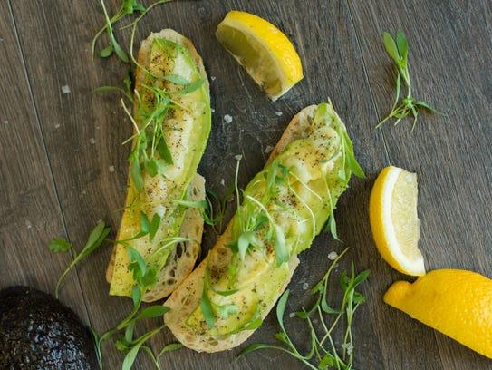 Avocado Toast with Lemon Emulsion.