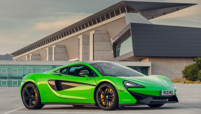 One McLaren sports car, similar to this picture, was newly registered in Iowa in 2015.