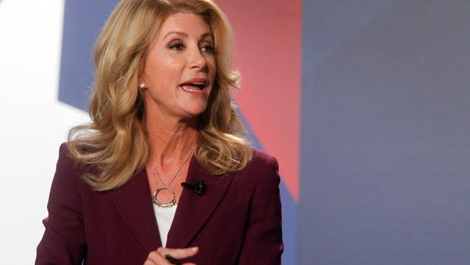 Wendy Davis, shown here in 2014, will campaign for Hillary Clinton this week in Sioux Falls.