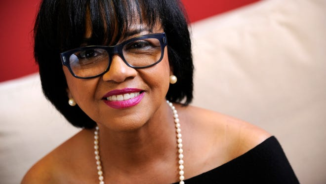 FILE - In this Feb. 19, 2014 file photo, Cheryl Boone Isaacs, president of the Academy of Motion Picture Arts and Sciences, poses for a portrait in Los Angeles. The film academy has been under fire for the lack of diversity among this year's Oscar nominees: All 20 acting contenders are white, and no women are represented in the directing, writing or cinematography categories. After the Oscar nominations announcement on Thursday, Jan. 15, 2015, the hashtag #OscarsSoWhite started trending on Twitter. Isaacs, the first black president of the Academy of Motion Picture Arts and Sciences, talked with The Associated Press Friday about the diversity controversy and what comes next.  (Photo by Chris Pizzello/Invision/AP, File)