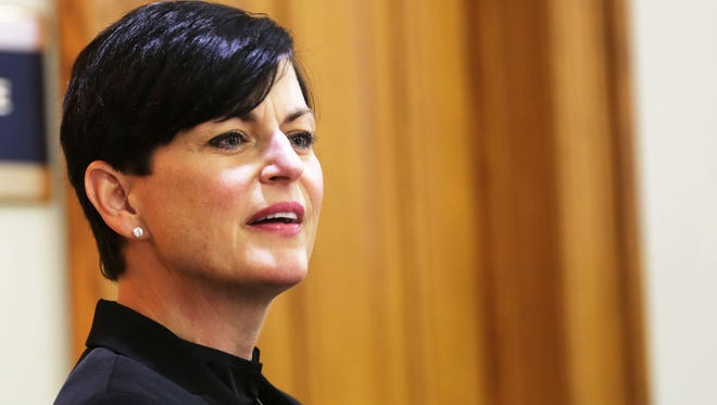Oakland County Judge Lisa Gorcyca testifies Tuesday at 35th District Court in Plymouth during a hearing on two Judicial Tenure Commission misconduct charges for her handling of the fight between Omer Tsimhoni and Maya Eibschitz-Tsimhoni.