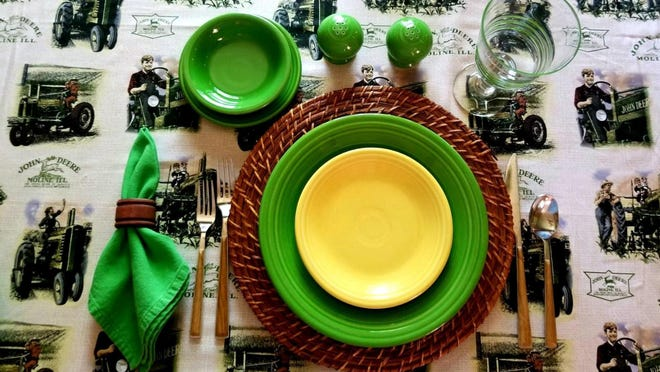 The corn is ready and how better to celebrate its delicious flavor than with a John Deere theme.