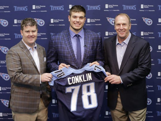 Former Michigan State offensive tackle Jack Conklin,