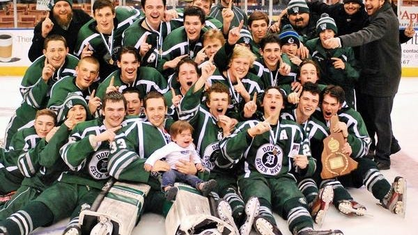 Dover High School has won six Division II state hockey championships, the last coming in 2015 -- a 2-1 win over rival Spaulding.