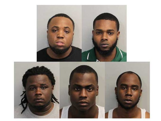 From top left, Martez Davis, Christopher Wood-Hooker,