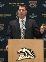 Western Michigan University new head coach Tim Lester.