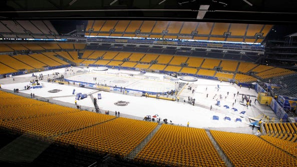 Heinz Field was the host of another outdoor game, when