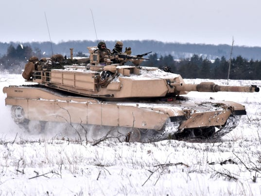Camp Grayling Abrams M1A1 tanks US Marines