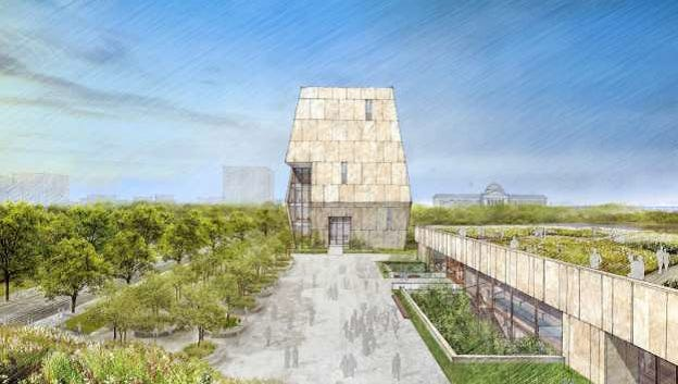 This rendering shows the conceptual design of the Obama Presidential Center campus. The Obama Foundation says at the heart of the center is a public plaza.
