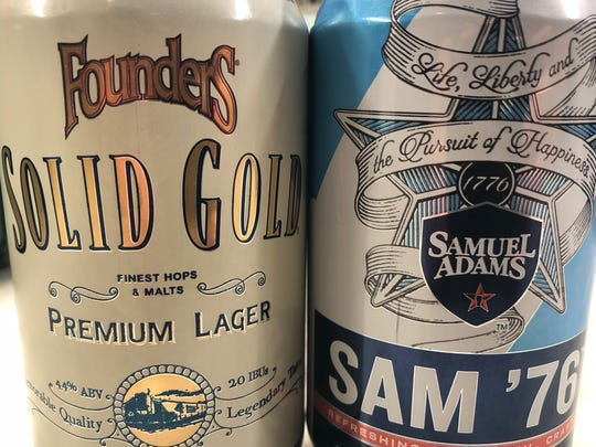 Solid Gold Premium Lager from Founders Brewing Co. of Grand Rapids, Mich., and Sam '76 lager-ale from Boston Beer Company both release nationwide in 2018.