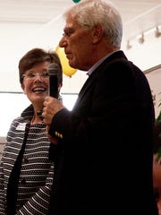 Andy Bowler and newly appointed Indian River Habitat CEO Sheryl Vittitoe.